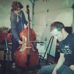 Lewis on bass. + Mike Sullivan from The Lonesome Line